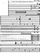 Form Et-706 - New York State Estate Tax Return