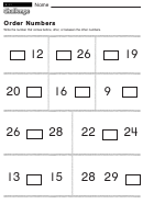Order Numbers - Math Worksheet With Answers