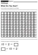 What Do You See - Math Worksheet With Answers