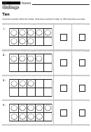 Ten - Math Worksheet With Answers