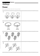 Fewer - Math Worksheet With Answers