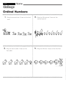 Ordinal Numbers - Math Worksheet With Answers