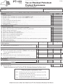 Form Pt-103 - Tax On Residual Petroleum Product Businesses