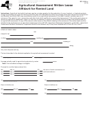 Form Rp-305-c - Agricultural Assessment Written Lease Affidavit For Rented Land