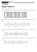 Shape Patterns - Shape Worksheet With Answers