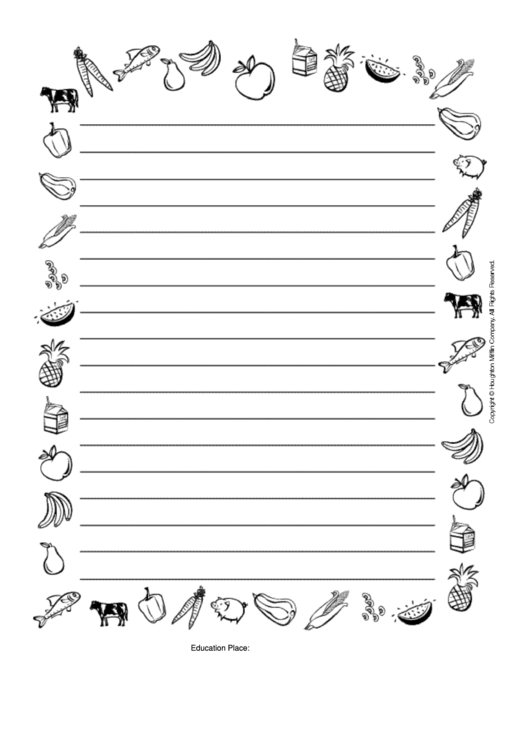 Nutrition Decorative Writing Paper Template