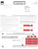 Form Dr-225 - Documentary Stamp Tax Return For Registered Taxpayers' Unrecorded Documents