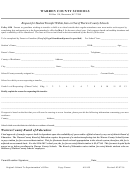 Form As-109 - Request For Student Transfer Within, Into Or Out Of Warren County Schools