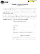 Form Esl - Extension Of Statute Of Limitations