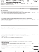 California Form 3509 - Political Or Legislative Activities By Section 23701d Organizations - 2013