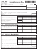 Form 500c- Underpayment Of Virginia Estimated Tax By Corporations - 2005