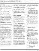 Instructions For Form Ftb 3805v - Net Operating Loss (nol) Computation And Nol And Disaster Loss Limitations - Individuals, Estates, And Trusts - 2013
