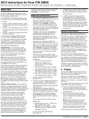 Instructions For Form Ftb 3805q - Net Operating Loss (nol) Computation And Nol And Disaster Loss Limitations - Corporations - 2013