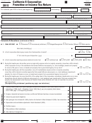 Form 100s - California S Corporation Franchise Or Income Tax Return - 2015
