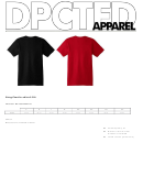 Sizing Chart For Shirts S-5xl - Dpcted Apparel