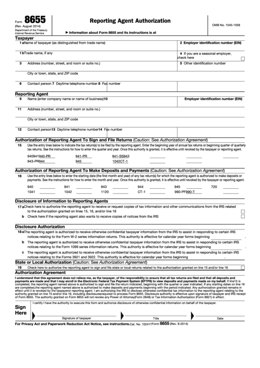 Top 10 Form 8655 Templates Free To Download In Pdf Format