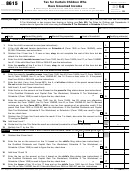Form 8615 - Tax For Certain Children Who Have Unearned Income - 2014