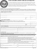 Csd Form 081 - Client/customer Consent Form And Authorization - California Department Of Community Services And Development