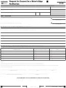 Form 1115 - California Request For Consent For A Water's-edge Re-election