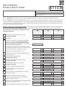 Form 511cr - Oklahoma Other Credits - 2014