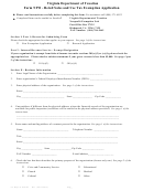 Form Npo - Retail Sales And Use Tax Exemption Application