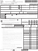 Form 760py - Virginia Part-year Resident Income Tax Return - 2015