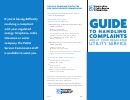 Guide To Handling Complaints About Your Regulated Utility Service - New York Public Service Commission