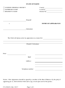 Form Cv-cr-021 - Entry Of Appearance - State Of Maine
