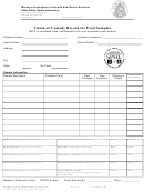 Form Eb Fqm-16c - Chain-of-custody Record For Food Samples - Missouri Department Of Health And Senior Services