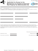 Form Rp-1573-acr-a - Application For Review For The Maintenance Of A System Of Improved Real Property Tax Administration Aid