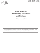 Nys-50-t-nyc New York City Withholding Tax Tables And Methods - 2015