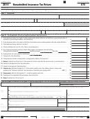 California Form 570 - Nonadmitted Insurance Tax Return - 2014