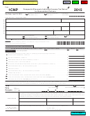 Form 1cnp - Composite Wisconsin Individual Income Tax Return For Nonresident Partners - 2015