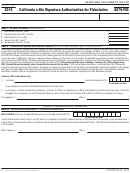 Form 8879-fid - California E-file Signature Authorization For Fiduciaries - 2015