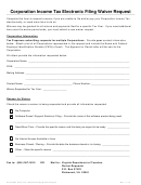 Corporation Income Tax Electronic Filing Waiver Request Form