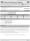Form 8455 - California E-file Payment Record For Individuals - 2015