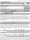 Form 8453-p - California E-file Return Authorization For Partnerships - 2015