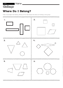 Where Do I Belong - Pattern Worksheet With Answers