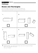Boxes And Rectangles - Geometry Worksheet With Answers