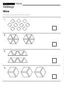 Nine - Math Worksheet With Answers