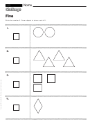 Five - Math Worksheet With Answers