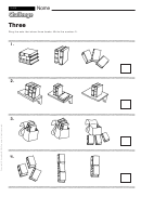 Three - Math Worksheet With Answers