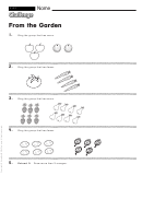 From The Garden - Math Worksheet With Answers