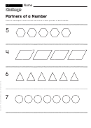 Partners Of A Number - Math Worksheet With Answers