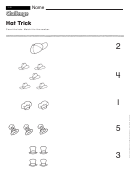Hat Trick - Math Worksheet With Answers