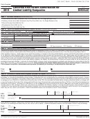 Form 8453-llc - California E-file Return Authorization For Limited Liability Companies - 2015