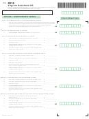 Virginia Schedule Cr - Credit Computation Schedule - 2015