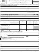 Form 3491 - Consumer Cooperative Exemption Application