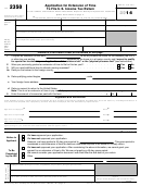 Form 2350 - Application For Extension Of Time To File U.s. Income Tax Return - 2014
