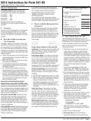 California Form 541-es - Estimated Tax For Fiduciaries - 2014